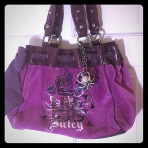 Juicy Couture velvet handbag